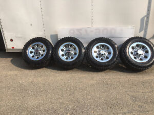 "17"" GMC / Chev Chrome Rims c/w Duratrac Studded Tires"