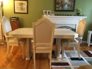 Dining Room Table & Six Chairs for sale.