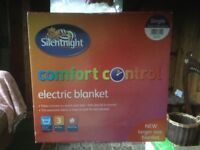 Single silent night electric blanket