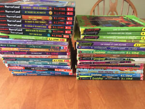 Book collection by R.L. Stine