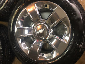 "20"" chrome 6 bolt Chevrolet rims"