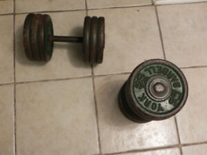 5 pairs of Dumbbells 15,25,30,65,75lb