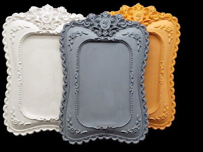 Large Antique Frame, Silicone Mold Polymer Clay Jewelry Soap Resin Wax