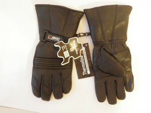 Thermal Motorbike Motorcycle Leather Gloves Large Size