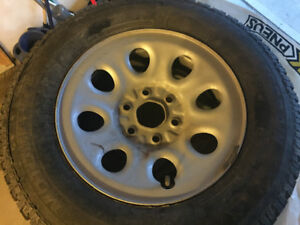 245/70R17 truck snow tires- 4 tires on rims