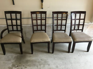 4 Dining chairs.