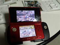 nintendo 3ds plus 3 games with circle pad pro