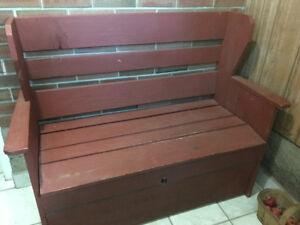 Wooden deacon bench $40