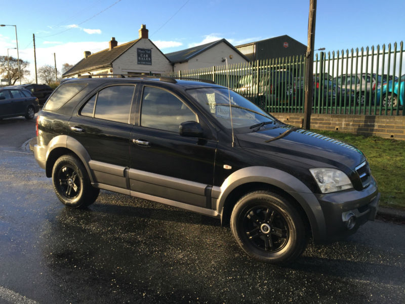 KIA SORENTO 2.5 CRDI XS AUTO 63000 MILES BLACK/GREY LEATHER FSH