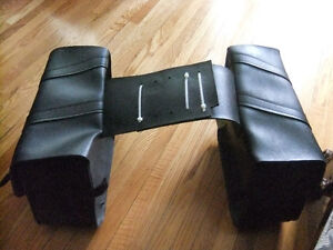 Willie and Max Deluxe Compact Slant Saddlebags
