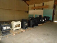 Pellet, wood and gas stoves