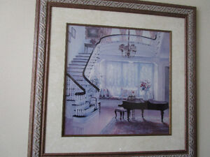 Beautiful large picture in frame