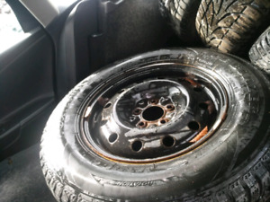 235 70 16  rims &  winter tires.  For sale ONLY 180$