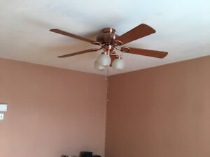 2 high quality ceiling fans ( can sell separately 50.00 each )