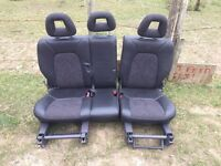 Mercedes a class rear seats half leather £30