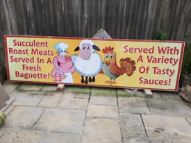 Hog roast signs