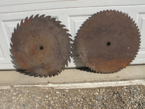 Large Antique Saw Blades