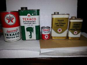 Texaco Motor Oil Cans