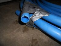 WATER PIPE I INCH BLUE PLASTIC 150 FT FOR 50.00 OBO