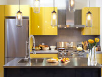 kitchen cabinet refinishing & basement renovation