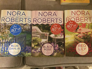 Nora Roberts books - $5 each or 3 for $10