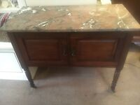 Mahogany Marble Top Wash Stand - CAN DELIVER