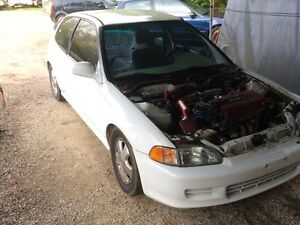1992 Honda civic hatchback forsale white