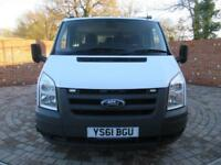 FORD TRANSIT 350 DOUBLE CAB 1 WAY TIPPER LWB 115 BHP ONE STOP CAGE TIPPER 6 SEAT