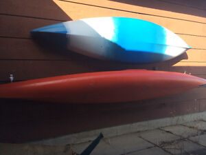 2 KAYAKS - single seaters, mint condition, paddles included