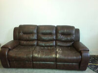 Leather Couch (Recliner)