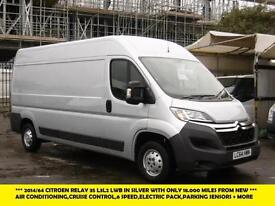 2014 CITROEN RELAY 35 L3H2 ENTERPRISE HDI IN SILVER WITH ONLY 18.000 MILES FROM