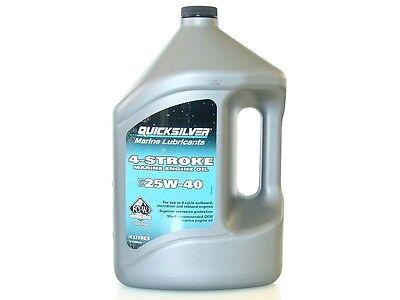 (€ 8,99/Ltr.) Quicksilver Motoröl SAE 25W-40 f. Innenborder, 4 Liter, MerCruiser