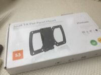 Small tilt flat panel mount (for small tv or monitor) still sealed in packaging