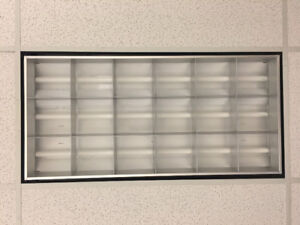 2x4 Parabolic Troffer, 18 Cell, 3 x 32W fluorescent (for sale)