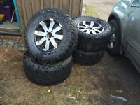 "Ford 18"" rims 33x13.50 Mickey Thompson WILL TRADE FOR LABOR"