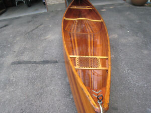 "17' 2"" cedar stripped canoe"