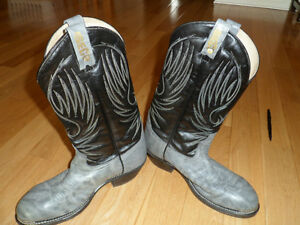 """New"" Western Leather Steel Toed Boot"