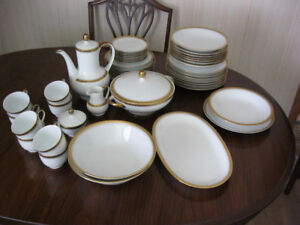 40 pieces Bavarian Dinnerware plus serving dishes