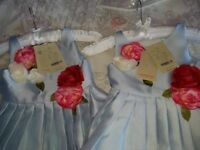 3 Light Blue Children's Bridesmaid/flower girl dresses from Monsoon, brand new.