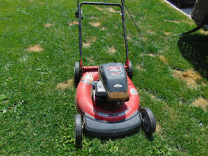1 lawn mower briggs & stratton 4 hp works well no bag $90  514-8