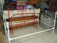 Antique Iron Bed with rails delivery is available!!