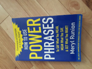 Soft cover. How to use power phrases