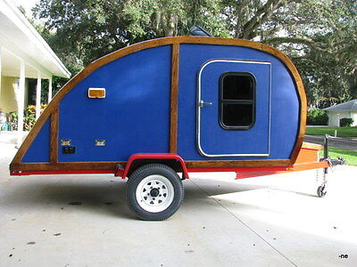 teardrop camper travel trailer used teardrop camper hand crafted for sale in vero beach. Black Bedroom Furniture Sets. Home Design Ideas