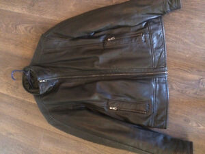 Danier leather jacket with leather spray