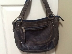 Blue leather Fossil Purse / bag