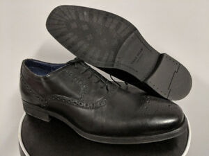 NEW Cole Haan Black Brogues Leather Oxfords Dress Shoes Size 8