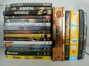 Lot DVDs, éditions spéciales, coffrets, films, docu, série