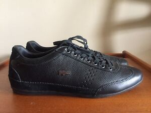 Lacoste Men's Misano 34 Fashion Black Leather Sneakers Shoes London Ontario image 1