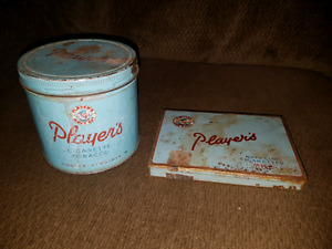 Vintage tobacco tins.