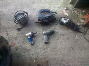 jig saw palm sander grinder air tools